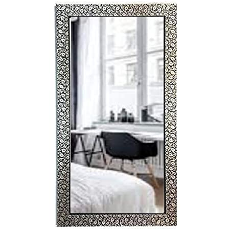 SEVEN HORSES Glass Wall Mirror (14.5 x 26.5 inch, White)…