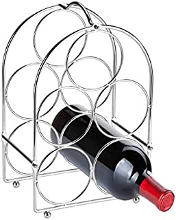 Home Basics Tabletop Wine Rack, Chrome, 5-Bottle