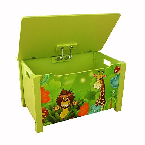Homestyle4u Spielzeugtruhe Dschungel grün - 3