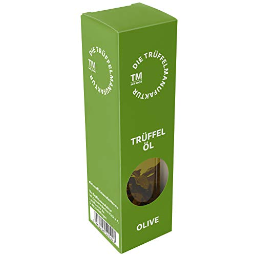 Trüffelöl Göschle Trüffelmanufaktur - Delikatessen Feinkost Olivenöl mit 10 g echter Trüffel für Risotto & Pasta 90 ml