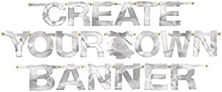 Silver Foil Create-Your-Own Letter Banner