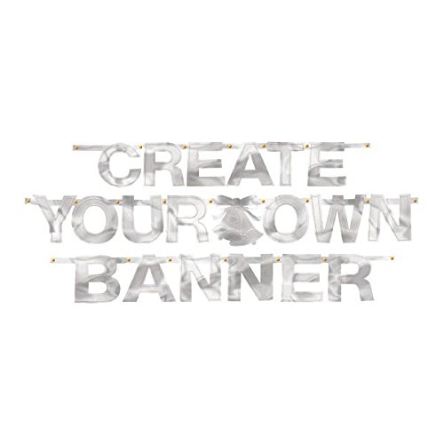 8a02d968 Amazon.com: Silver Foil Create-Your-Own Letter Banner: Kitchen & Dining