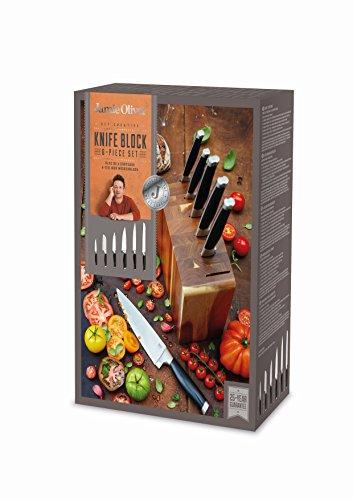 Jamie Oliver Juego de 6 cuchillos de acacia
