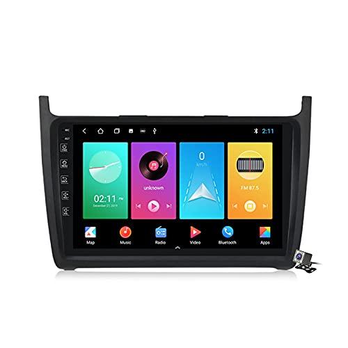 Gokiu Android 10 Autoradio Double DIN Car Stereo para VW Polo Sedan 2008-2020 Soporta FM Am RDS DSP SWC 4G/5G WiFi/Unidad Principal De Navegación GPS/Carplay, Contiene Cámara,M100