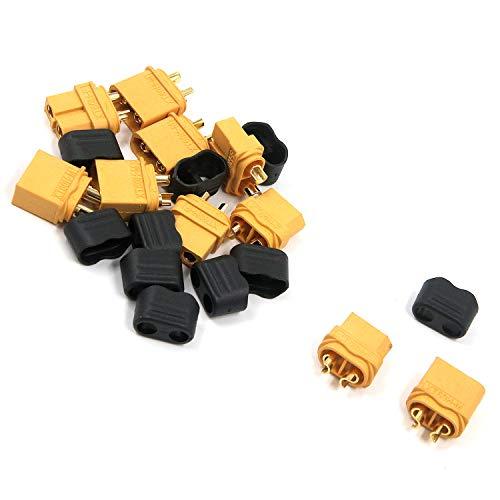 Karcy XT60 - Conector para Cargador de batería con Tapas para batería Lipo RC Aviones y Coches (5 Pares)