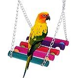 YOUZHI Vogelspielzeug, Papageienholzspielplatz, Vogelspielrahmen, Schaukel, Handrahmen Aus Pfefferholz, Papageienschleifklauenstange