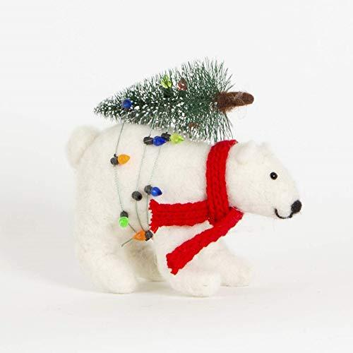 Sass et Belle Ours Polaire avec décoration d'arbre de Noël 13 Centimetre