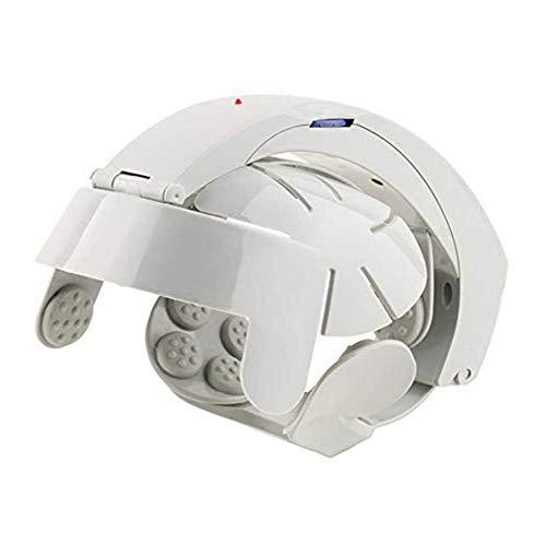 Scalp massager Cabeza Masajeador eléctrico Masaje Cerebral Casco Cuero cabelludo Relajarse Puntos de acupuntura Gris con tamaño Ajustable y 8 Modos para estrés Relajarse Metabolismo Sueño