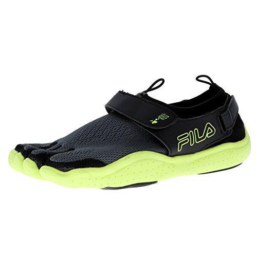 Fila Ez-Slide 18 Engineered Black/Sfty/Castlerock Mens Running Size 11M