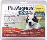 PETARMOR Plus Flea & Tick Squeeze-on for Dogs 89-132 lbs. 3 Dose