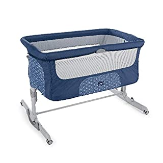 Chicco Next2Me Dream Cuna de Colecho para Bebé con Colchón, Función de Mecedora, Lateral Abatible, Altura Ajustable, Panel de Malla, Ruedas y Bolsa de Viaje 0-6 meses, 9 kg (Navy) (B07GJQBC7Q) | Amazon price tracker / tracking, Amazon price history charts, Amazon price watches, Amazon price drop alerts