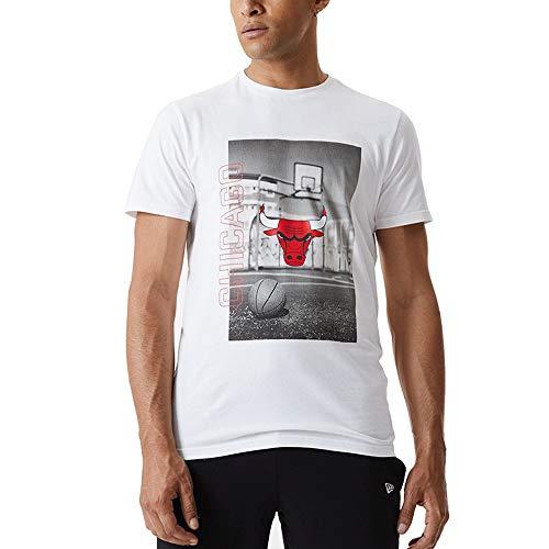 New Era Camiseta de Manga Corta Modelo NBA Photographic tee CHIBUL Marca