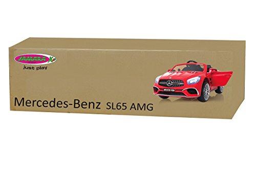 RC Auto kaufen Kinderauto Bild 6: Jamara 460294 Ride-on Mercedes SL65 rot 12V-Softanlauf, 2-Gang, Stoßdämpfer, SD-Slot, AUX-und USB-Anschluss, LED, Hupe, bis zu 90 Min. Fahrzeit, Ultra-Gripp Gummiring*