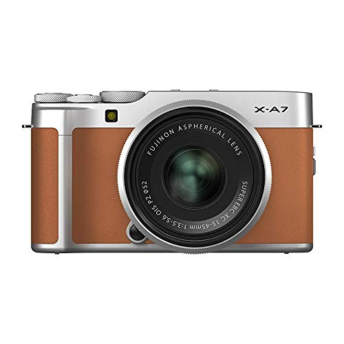 Fujifilm X-A7 Mirrorless Digital Camera w/XC15-45mm F3.5-5.6 OIS PZ Lens, Camel (Renewed)