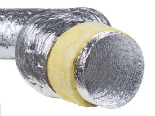 Tubo flexible de aluminio aislado, varios diámetros