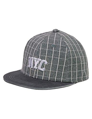 maximo Jungen Cap NYC Kappe, Grau (Holzkohle 76), 51/53