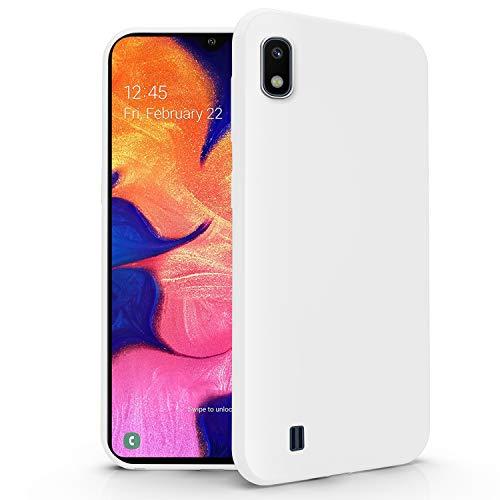 N NEWTOP Cover Compatibile per Samsung Galaxy A10, Custodia TPU Soft Gel Silicone Ultra Slim Sottile Flessibile Case Posteriore Protettiva (Bianca)