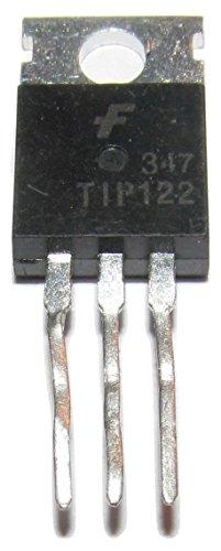 Major Brands TIP122. Transistor, Darlington, NPN, 100 Volt, 5 Amp, 3-Pin, 4.83 mm W x 9.4 mm H x 10.67 mm L (Pack of 10)