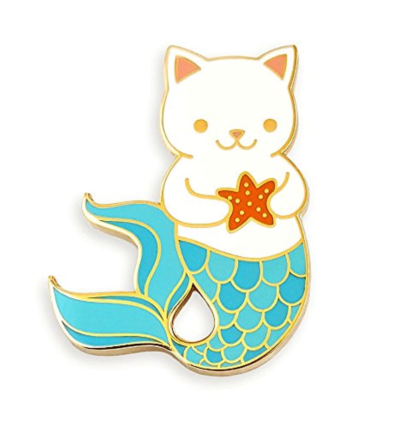 Pinsanity Cute Cat Mermaid Enamel Lapel Pin