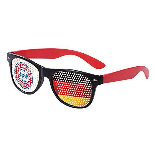Bayern München Fanbrille, Spaßbrille, Brille kompatibel FCB - Plus Lesezeichen I Love München