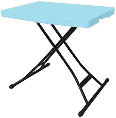 Mesa plegable pequeña para ordenador de sobremesa, simple y plegable al aire libre, alta mesa, portátil, plegable, color blanco, color blanco