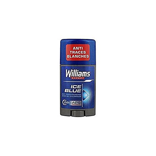 Williams Déodorant Ice Blue 24 h anti traces blanches - Expert - Le stick de 75 ml