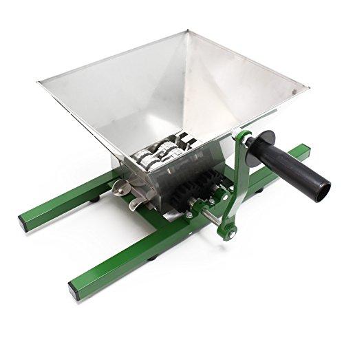 Wiltec Fruchtmühle Obstmühle mit 7 L Trichter und Handkurbel leicht zu reinigen