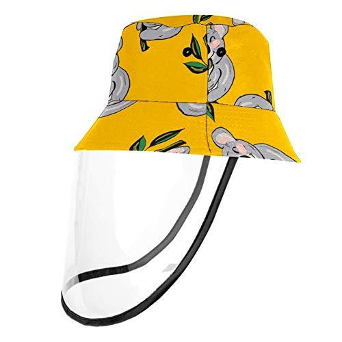 Kids Summer Play Hat UPF 50+ Bucket Travel Hat Removable Sun Cap for Boys and Girls - Cartoon Koala Baby Tree