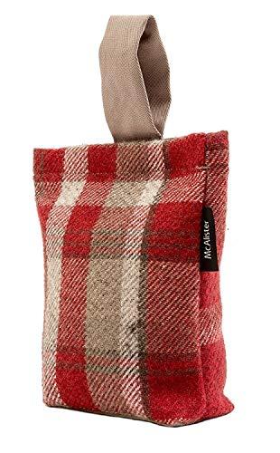 McAlister Textilien Designer Heritage Türstopper Sackin Rot Sack Form Deko Türsack im Tartan-Muster kariert rustikaler Schottischer Landhausstil