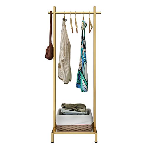 WGYDREAM Perchero de Pie Perchero De Pie,Coat Rack,Perchero Nórdicos Prendas De Oro Soporte Ganchos De Metal Bipedestador Percha for Sombrero Pasillo Dormitorio Sala De Recepción