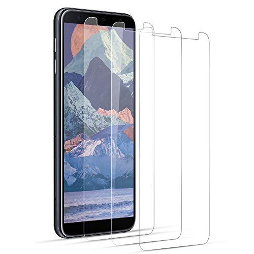 DOSNTO Verre Trempé pour Samsung Galaxy J6 2018 Plus / J4 Plus Film Protection écran Plein[Affaire Classée][Bord à Bord][sans Bulle][Anti-Scratch][Sensible au Toucher][Ultra HD]