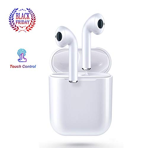 Bluetooth Headphones, Wireless Earbuds Earphones in-Ear for Sport Bluetooth 5.0 Earphones Stereo Sound Noise Cancelling Built-in Mic Earphones Compatible with Apple/Airpods/AirPods Pro/Android/iPhone
