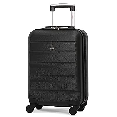 Aerolite Super Lightweight ABS Hard Shell Travel Carry On Cabin Hand Luggage Suitcase with 4 Wheels, Approved for Ryanair, easyJet, British Airways, Virgin Atlantic and Many More