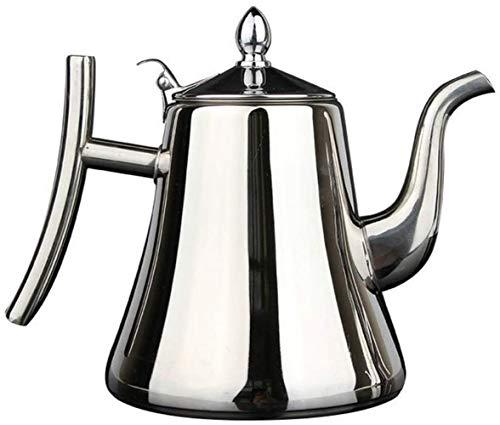 YONGYONGCHONG Tetera Acero Inoxidable 1000ml Grueso Tetera de Plata de Oro del pote del té con Infusor Cafetera Fogón de té de la Caldera del Agua 1yess Hervidor de Agua