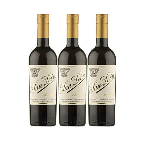 Wein Manzanilla San Leon Klassischer 50 cl - D.O. Manzanilla-Sanlucar de Barrameda - Bodegas Argüeso (3 Flaschen)