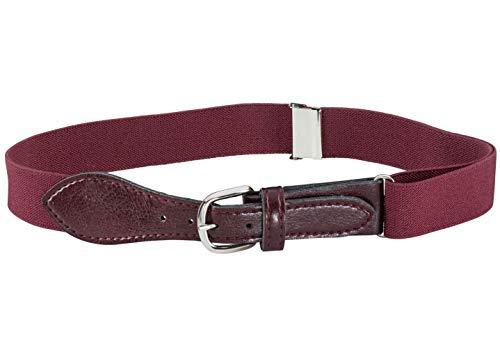 Hold'Em Baseball Belt Boys & Men-Leather Closure Elastic-Burgundy
