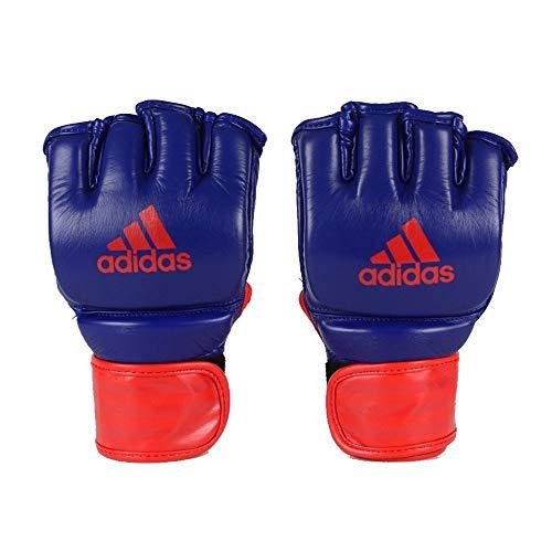 Luva Adidas MMA em Couro Azul/Vermelho (M)