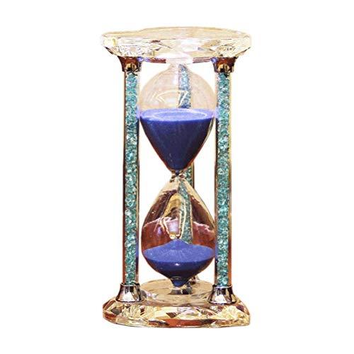 HEMFV Sanduhr Sanduhr Uhr Romantischer Mantel Schreibtisch Couchtisch Bücherregal Kuriositätenschrank Weihnachtsgeburtstagsgeschenk blau (Size : 60 Minutes)