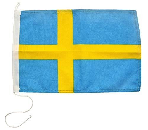 Scheepsvlag Zweden 30 x 45 cm in professionele kwaliteit vlag motorvlag