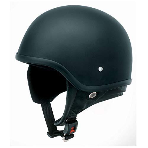 Redbike Helm RB-450 Halbschale Retrohelm Roller Chopper matt-schwarz M
