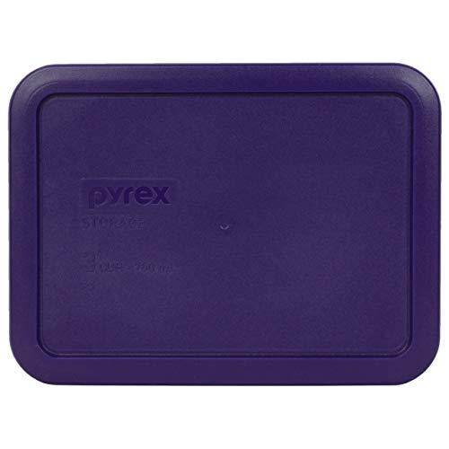 Pyrex 7210-PC - Tapa rectangular de plástico para 3 tazas, color morado