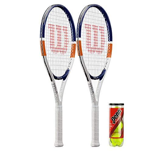 Wilson Roland Garros Elite Raqueta de tenis + varias opciones de paquete (2 unidades y pelotas)