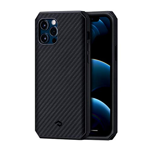 PITAKA MagEZ Case Pro 2 for iPhone 12 Pro,Magnetic Case for iPhone 12 Pro Compatible with MagEZ Chargers,Durable Drop Tested Protective Cover with TPU Bumpers & Shock Absorbing Protection
