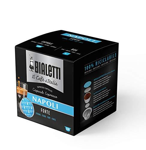 Bialetti Caffè d'Italia Napoli Gusto Forte, 128 Capsule