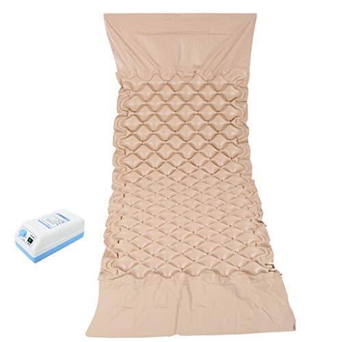 Zholei Comfortabele pvc-opblaasbare antideubitale matras voor medische thuis; lengte en verbreding inclusief elektrische pomp (huidkleur)