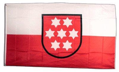 Fahne / Flagge Deutschland Thüringen alt + gratis Sticker, Flaggenfritze®