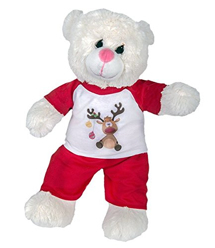 Reindeer PJs Fits Most 14' - 18' Build-a-bear and Make Your Own Stuffed Animals