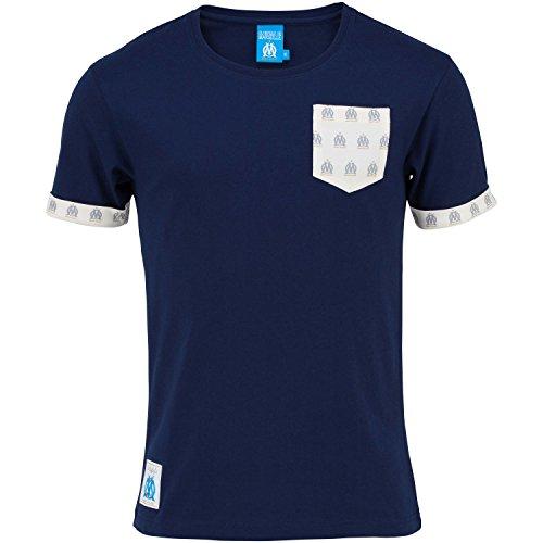 Olympique de Marseille – Camiseta informal OM- Colección oficial del club de fútbol Olympique de Marsella – Talla para hombre adulto, Hombre, azul marino, S