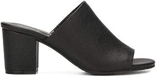 Reaction Kenneth Cole Malyn Slip On Leather Mule Women's Black