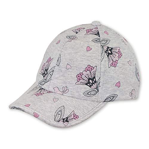 Sterntaler Baseball-Cap für Mädchen mit Größenregulierung und Blumen-/Herz-/Vogel-Motiven, Alter: 2-4 Jahre, Größe: 53, Silber